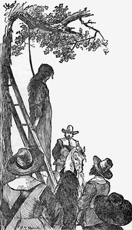 Depiction of the hanging of Ann Hibbins