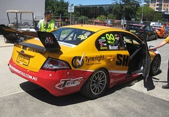 The MW Motorsport Ford FG Falcon in which Chaz Mostert won the Adelaide round of the 2013 Dunlop Series