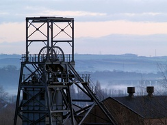 The winding tower of the former Barnsley Main Colliery seen in 2006.