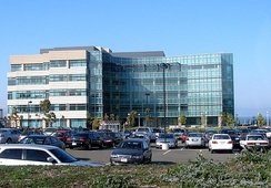 Building 32, one of the Genentech headquarters' newer buildings