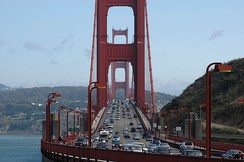 The Golden Gate Bridge, which SR 1 shares with US 101