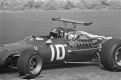 Jacky Ickx at the 1968 Dutch Grand Prix.