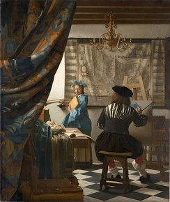 The Art of Painting by Jan Vermeer (ca. 1660s). The 17th century Dutch painters were the first artists in history to transform genre painting into a highly sophisticated and respected art form, in its own right.[1][2][3][4][5]