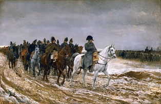Napoleon and his staff during the War of the Sixth Coalition, by Jean-Louis-Ernest Meissonier