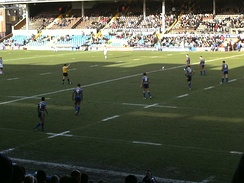 Leeds playing at the 2008 Boxing Day friendly against Wakefield Trinity at Headingley, Leeds