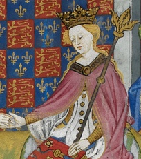 Margaret of Anjou, depicted in the Talbot Shrewsbury Book, 1444–45