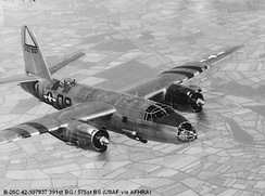 Martin B-26C Marauder Serial 42-107837 of the 575th Bomb Squadron.