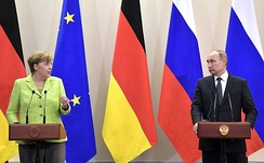 German Chancellor Angela Merkel criticized the CAATSA sanctions against Russia, targeting EU–Russia energy projects.[300]