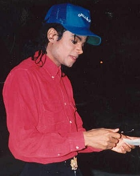 Jackson in 1988, in the middle of his skin transformation