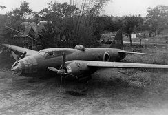 A Mitsubishi G4M2 on the ground.