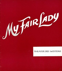 Program My Fair Lady, 1961, beginning of musicals in Germany