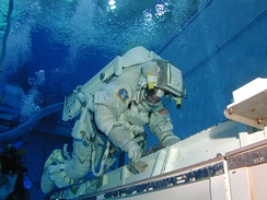 Astronaut training at the Johnson Space Center in Houston