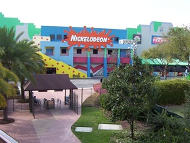 Nickelodeon Studios as viewed from the Hard Rock Cafe in March 2004 before it closed
