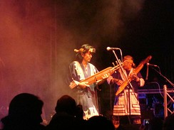 The Oki Dub Ainu Band, led by the Ainu Japanese musician Oki, in Germany in 2007