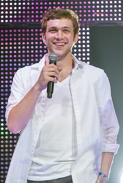 Phillip Phillips, who won the eleventh season of the singing competition show American Idol, performs on the American Idols Live! Tour in 2012.