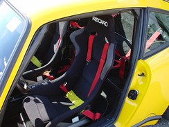 The Recaro seats in a CTR