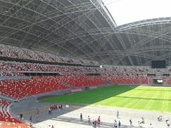 The National Stadium's retractable roof holds the world's 'largest dome structure' record