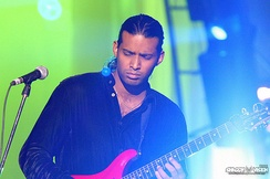Shallum Asher Xavier from Pakistani rock band, Fuzon, performing live at a concert