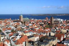 View over Stralsund from the tower of St Mary's