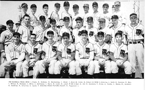 1954 University of Cincinnati baseball team photo with Sandy Koufax (top row, 5th from the left).