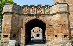 The fore entrance to Linlithgow Palace, built by King James V around 1533, gave access to the outer enclosure surrounding the palace