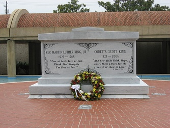 Martin Luther King Jr. and Coretta Scott King tomb in the Sweet Auburn district, preserved within the Martin Luther King Jr. National Historic Site