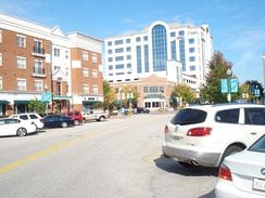 View along Town Center Drive at City Center at Oyster Point, October 2012