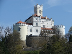 Trakošćan Castle is one of the best preserved historic buildings in the country[285]