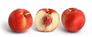 White peach of the clingstone variety