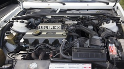 "The 1.9-liter ""High Output"" EFI engine in a 1990 Ford Escort GT"