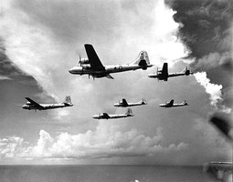 468th Bombardment Group Boeing B-29s attacking Rangoon Burma