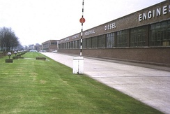 AEC Southall Works from the north, 1973