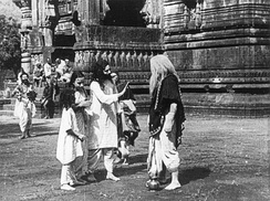 A shot from Raja Harishchandra (1913), the first film of Bollywood.