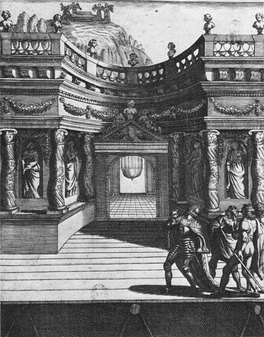 Setting for Act 5 of Le Martyre de Sainte Catherine by Jean Puget de la Serre, first produced in 1643 at the Hôtel de Bourgogne and a possible example of the use of the théâtre supérieur[4]