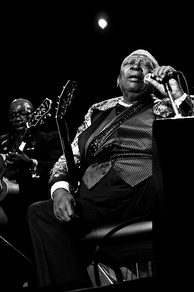 "American musician B.B. King is known as the ""King of the Blues""."