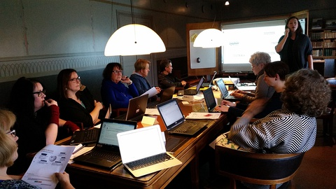 WiR running a training course for librarians in Stockholm