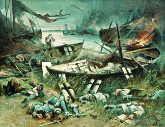 The Battle of Vistula Lagoon (Polish: Bitwa na Zalewie Wiślanym or Polish: Bitwa w Zatoce Świeżej) was fought on September 15, 1463 between the navy of the Teutonic Order and the navy of the Prussian Confederation, which was allied with the King of Poland.