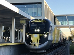 Brightline train at Fort Lauderdale