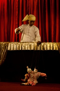 Burmese puppet performance