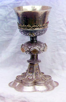 Chalice in the vestry of the Ipatevskii Monastery in Kostroma. Photographed by Sergey Prokudin-Gorsky in 1911.