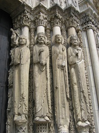 Gothic statues in the Portail royal