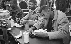 Student sit-in at Woolworth in Durham, North Carolina on February 10, 1960
