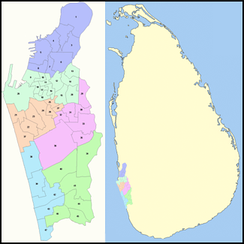 Map of Colombo showing its administrative districts.