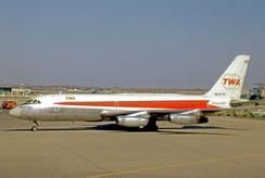 Trans World Airlines was the major operator of the Convair 880. One of their aircraft departs from Chicago O'Hare on a scheduled service in April 1971.