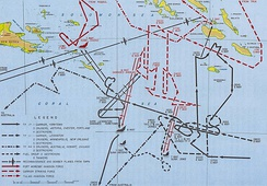 Map of the battle, 3–9 May, showing the movements of most of the major forces involved[21]