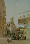 Bazaar of the Coppersmiths by David Roberts, 1838