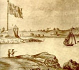 Fort William and Mary in 1705