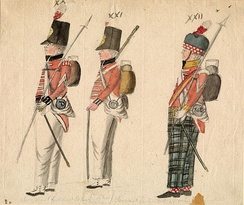 Infantry of the 50th and 91th Regiments.