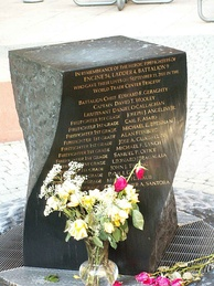 Memorial to 15 firefighters from West 48th Street station who died on September 11, 2001