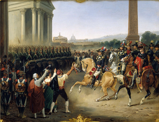 French Army entering Rome in 1798